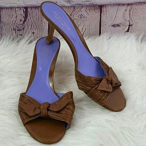 Sergio Rossi Brown Leather Open Toe Sandals